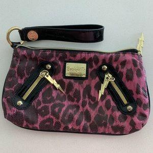 ⚡️Betseyville Rocker Clutch Wristlet Pink Leopard